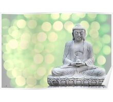 buddha lights (green) Poster