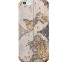 Vintage Map of The World (1662) iPhone Case/Skin