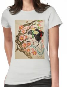 Zombie Geisha 1 Womens Fitted T-Shirt