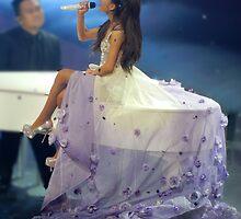 Ariana Grande Floral Dress by eliannadraws