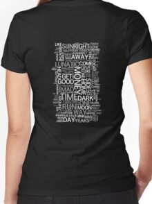 Dark Side of the Moon word cloud Women's Fitted V-Neck T-Shirt