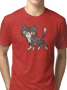 Rough sketch of a cat Tri-blend T-Shirt