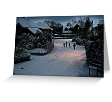 Winter Stroll Greeting Card