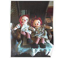 """Raggedy Ann and Raggedy Annie Dolls"" Poster"