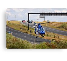 Highways are for Helicopters too Canvas Print