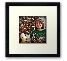 Excited For Christmas  Framed Print