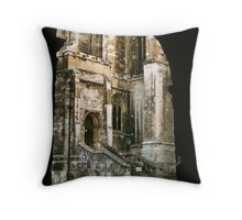 Entrance to chapel Eton College 19570829 0004 Throw Pillow