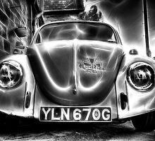 Volkswagen Beetle in Black and White by Nigel Butterfield