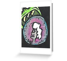 Eating Money Greeting Card