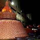 Beautiful Fountain by the entrance of the Trump Taj Mahal by Jane Neill-Hancock