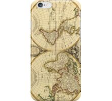 Old Fashioned World Map (1782) iPhone Case/Skin