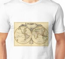 Old Fashioned World Map (1782) Unisex T-Shirt