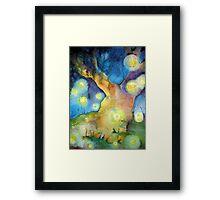 Firefly Gathering Framed Print
