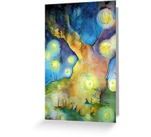 Firefly Gathering Greeting Card