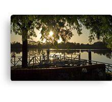 Sunrise Over the Manning, Taree Canvas Print