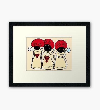 Mushroom Trio Framed Print