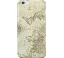 Vintage Map of The World (1787) iPhone Case/Skin