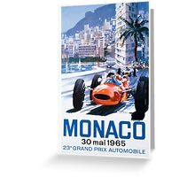 Monaco F1 Classic 1965 Greeting Card