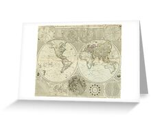 Vintage Map of The World (1787) Greeting Card