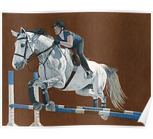 Jump! Horse & Rider Jumping  Poster