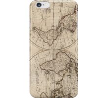 Old Fashioned World Map (1795) iPhone Case/Skin