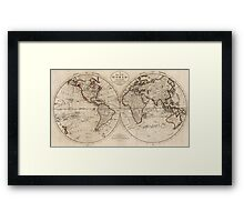 Old Fashioned World Map (1795) Framed Print