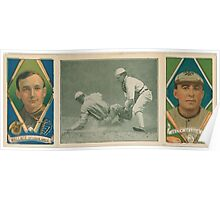Benjamin K Edwards Collection R J Wallace Barney Pelty St Louis Browns baseball card portrait Poster