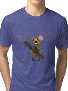 SuperMouse Helicopter 05b Tri-blend T-Shirt