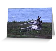 Synchronised Relaxing Greeting Card
