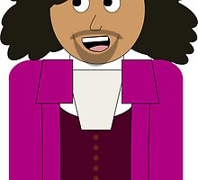 Daveed Diggs as Thomas Jefferson Cartoon Hamilton the Musical by Rosey Mulvey