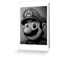 Portrait of an Italian Plumber Greeting Card