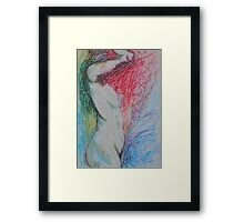 Nude Female - Flame Of Passion Framed Print