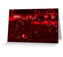 Diamonds of Red Droplets (best viewed larger) Greeting Card