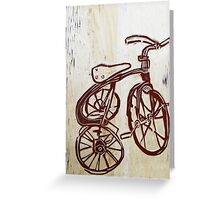 chalk on carved wood Greeting Card