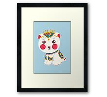 The Ethnic Polar Bear Framed Print