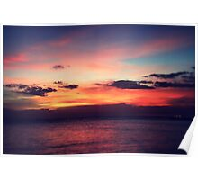 Glorious Oahu Sunset Poster