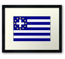 New Greek flag Framed Print