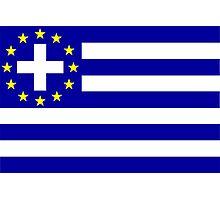 New Greek flag Photographic Print