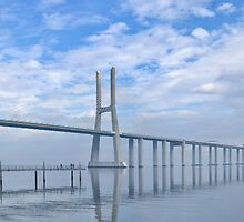 Vasco da Gama Bridge Panorama by Paulo Maninha