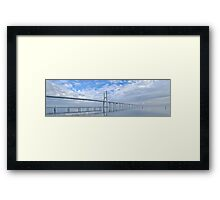 Vasco da Gama Bridge Panorama Framed Print