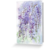 The Wisteria's scent Greeting Card