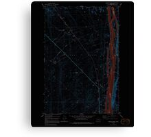 USGS Topo Map Washington State WA Wooden Island 244781 1978 24000 Inverted Canvas Print