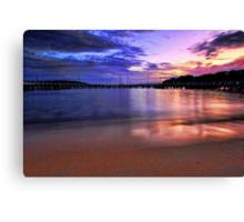 Glowing Sand Canvas Print