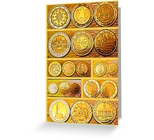 Coin Collection Greeting Card