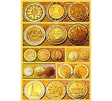 Coin Collection Photographic Print