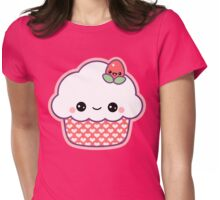 Cute Strawberry Cupcake Womens Fitted T-Shirt