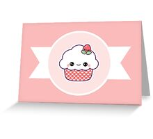 Cute Strawberry Cupcake Greeting Card