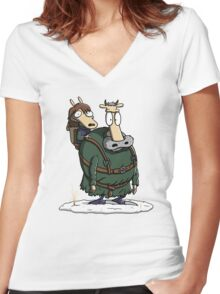Bran's Modern Life Women's Fitted V-Neck T-Shirt