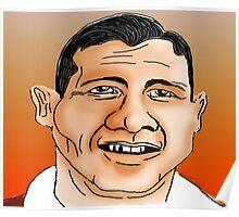 Alfie Conn Cartoon Caricature Poster