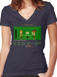 Maniac IT Department Women's Fitted V-Neck T-Shirt